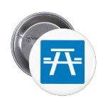Roadside Table Highway Sign Pinback Button