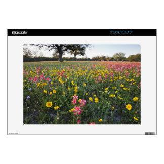 """Roadside wildflowers in Texas, spring 3 15"""" Laptop Skins"""