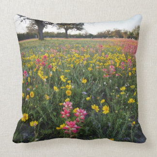 Roadside wildflowers in Texas, spring 3 Throw Pillow