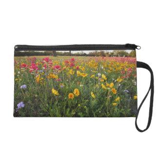 Roadside wildflowers in Texas, spring Wristlet Purse