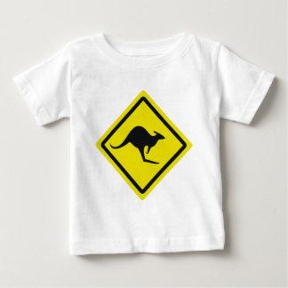 roadsign australia kangaroo icon baby T-Shirt
