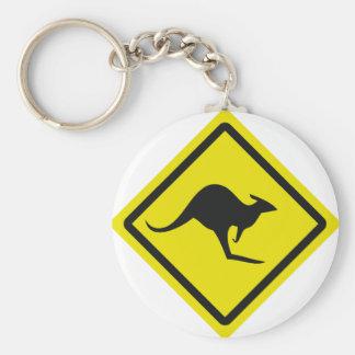 roadsign australia kangaroo icon keychain