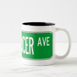 Roadsign bellydancer Two-Tone coffee mug