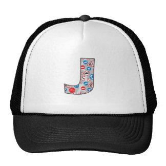 Roadsign Fun J Trucker Hats