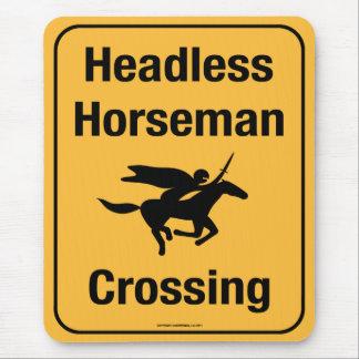 Roadsign - Headless Horseman Crossing Mouse Pad