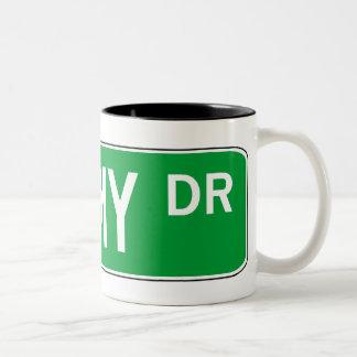Roadsign Shimmy Two-Tone Coffee Mug