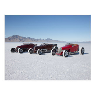 Roadsters on the Salt Flats Postcard