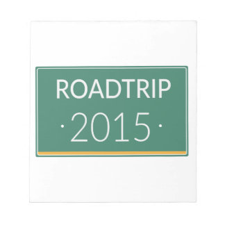 Roadtrip 2015 notepad