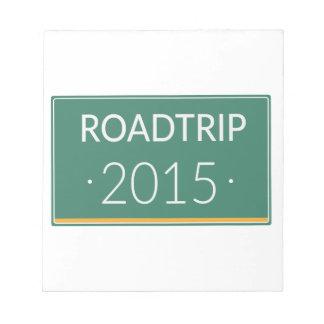 Roadtrip 2015 notepad