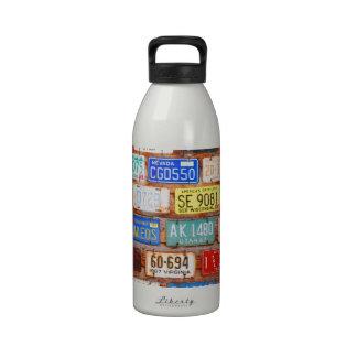 Roadtrip Gear - US License Plates Drinking Bottle