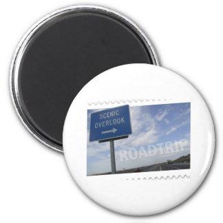 Roadtrip Scenic Overlook Magnet