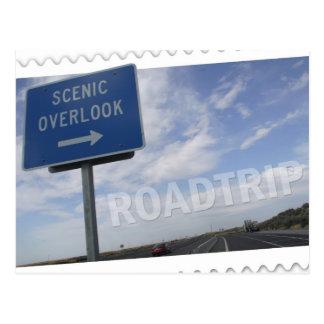 Roadtrip Scenic Overlook Postcard