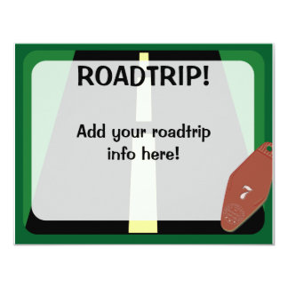 Roadtrip Time 4.25x5.5 Paper Invitation Card