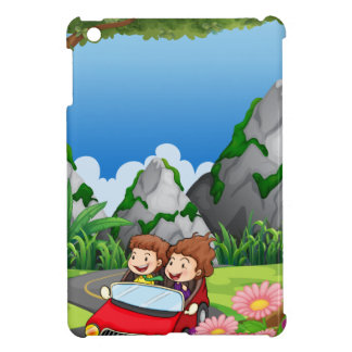 RoadtripPeople riding along the green forest iPad Mini Case