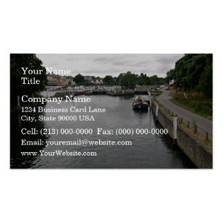 Roadway at the river business card templates