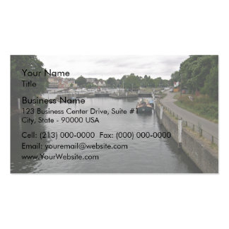 Roadway at the river business card