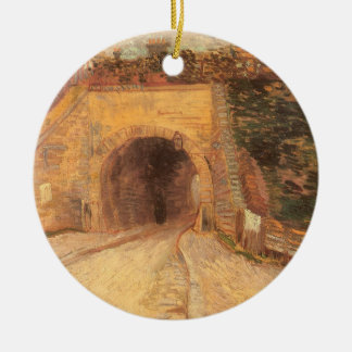 Roadway Underpass, Viaduct by Vincent van Gogh Ceramic Ornament
