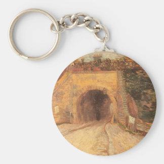 Roadway Underpass, Viaduct by Vincent van Gogh Keychain