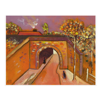 ROADWAY WITH UNDERPASS POSTCARD