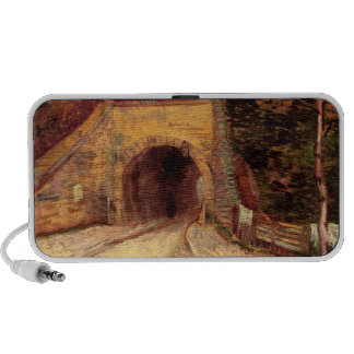 Roadway with Underpass The Viaduct by van Gogh iPod Speakers