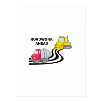 Roadwork Ahead Postcard