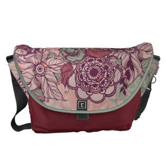 Roal flower messenger bag