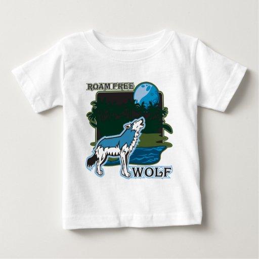 Roam Free Wolf T Shirt