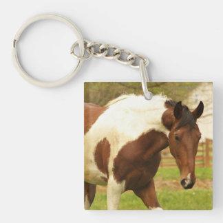 Roaming Paint Horse Keychain Square Acrylic Keychains