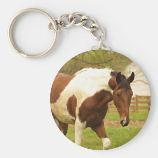 Roaming Paint Horse Keychain