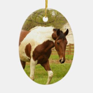 Roaming Paint Horse Ornament
