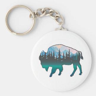 Roaming Yellowstone Keychain