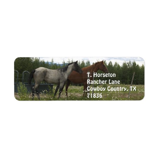 Roan and Appaloosa Address Labels