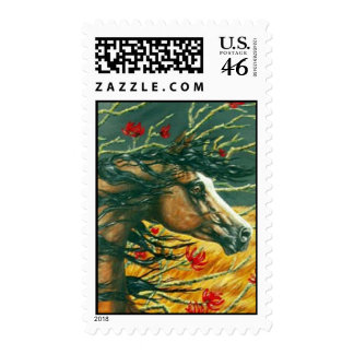 roan arab and coral tree postage
