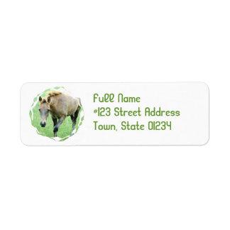 Roan Horse Return Address Label