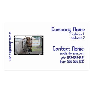 Roan Pony Business Cards