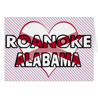 Roanoke, Alabama Tarjeta De Felicitación