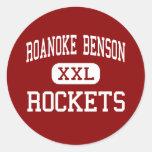 Roanoke Benson - Rockets - joven - Benson Pegatina Redonda