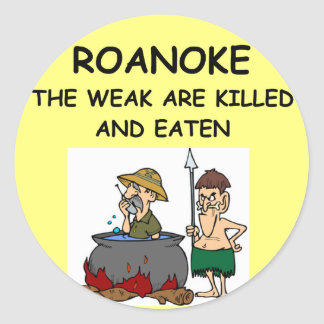 ROANOKE CLASSIC ROUND STICKER