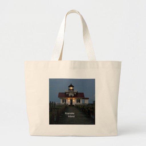 Roanoke IMarshes Lighthouse Large Tote Bag
