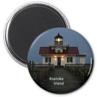 Roanoke Island 2 Inch Round Magnet