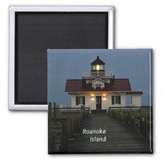 Roanoke Island 2 Inch Square Magnet
