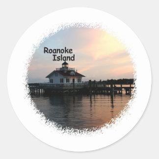 Roanoke Island Lighthouse Classic Round Sticker