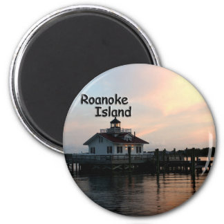 Roanoke Island Lighthouse 2 Inch Round Magnet
