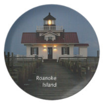 Roanoke Island Lighthouse Melamine Plate