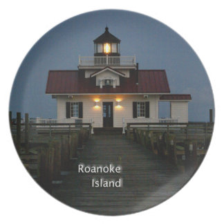 Roanoke Island Lighthouse Melamine Plate