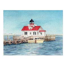 Roanoke Island Lighthouse Postcard at Zazzle