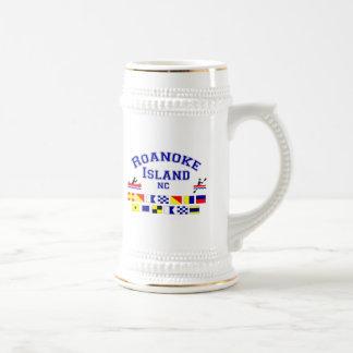 Roanoke Island NC Sig Flag Beer Stein