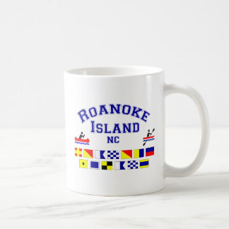 Roanoke Island NC Sig Flag Coffee Mug