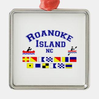 Roanoke Island NC Sig Flag Metal Ornament
