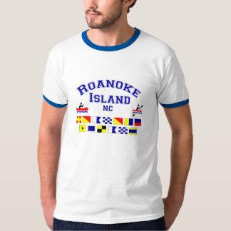 Roanoke Island NC Sig Flag T-Shirt